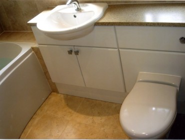 sink and toilet cupboards
